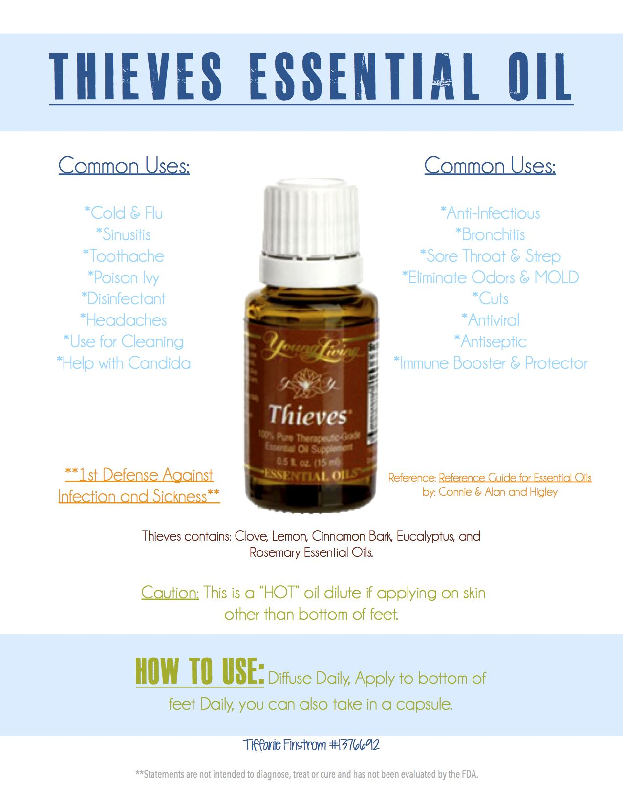 Young Living Thieves Essential Oil Blend (With images