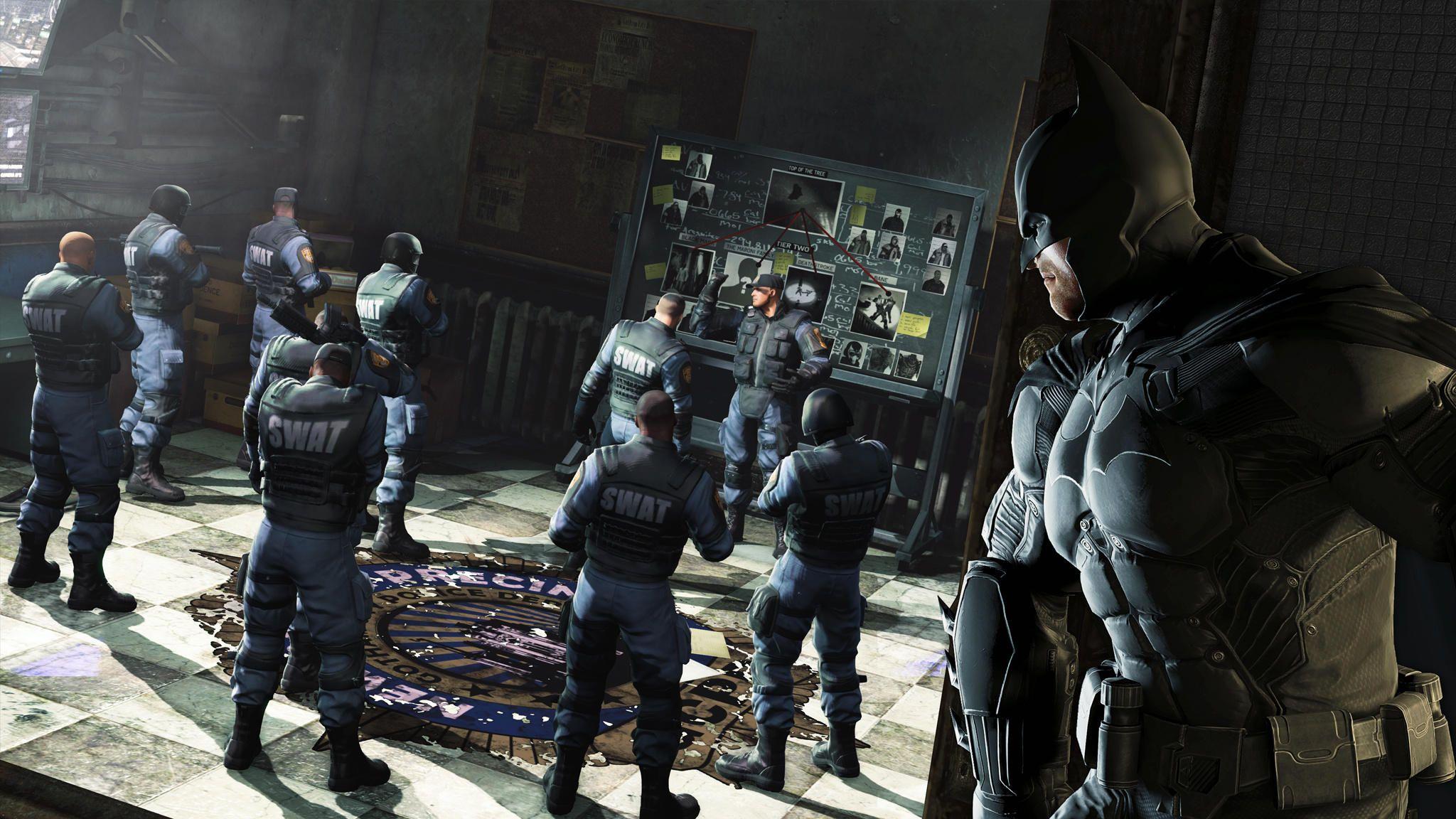 Batman Arkham Origins spying on Swat  ebf7b69ef29