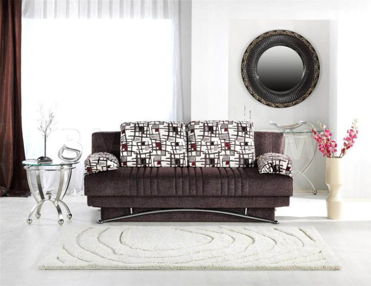 Fantasy Sofa Sleeper in Aristo Burgundy by Istikbal Sofa beds by