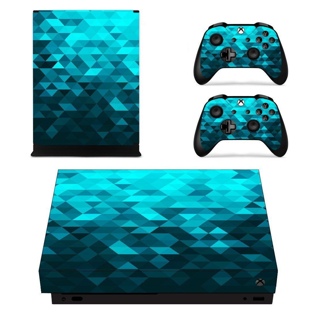 Blue Prizma Effect Xbox One X Skin Decal For Console And 2 Controllers Xbox One Xbox Console