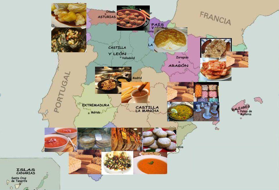 Mapa gastron mico de espa a pesquisa do google - Cocina navidena espanola ...
