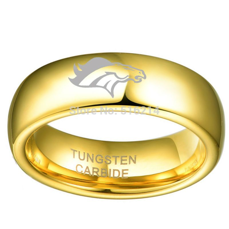 6mm Women Shiny Dome Band Unisex Tungsten Carbide Wedding Finger ...