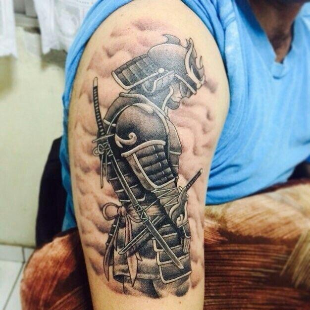 Pin De Minh Trinh Em Tatoo Tatuagem De Guerreiro Samurai Jovens Tatuados Tatuagem De Meia Manga