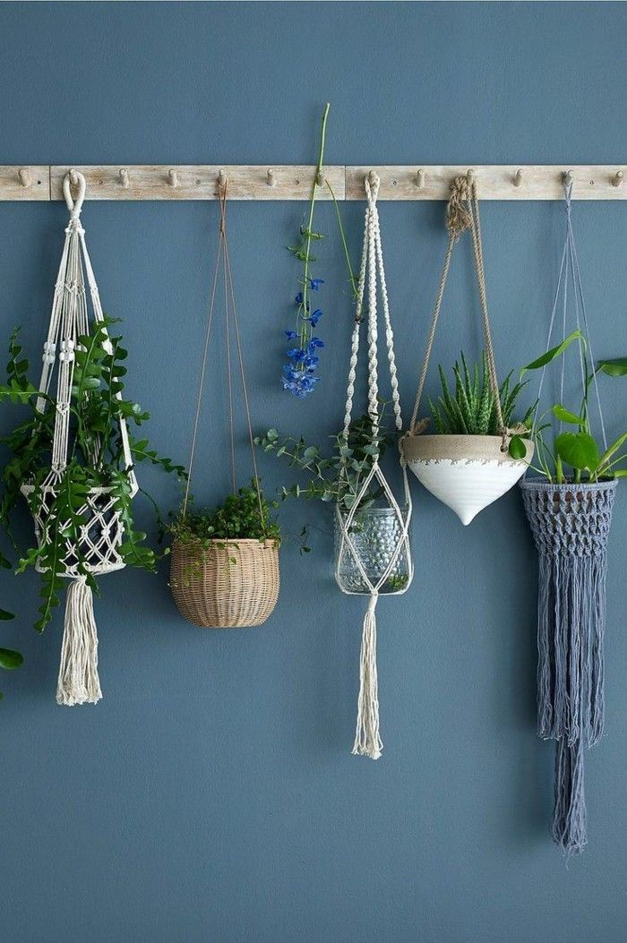 Make macrame flower lights yourself - 40 ideas for bringing a fresh flair to the room, # Chec...