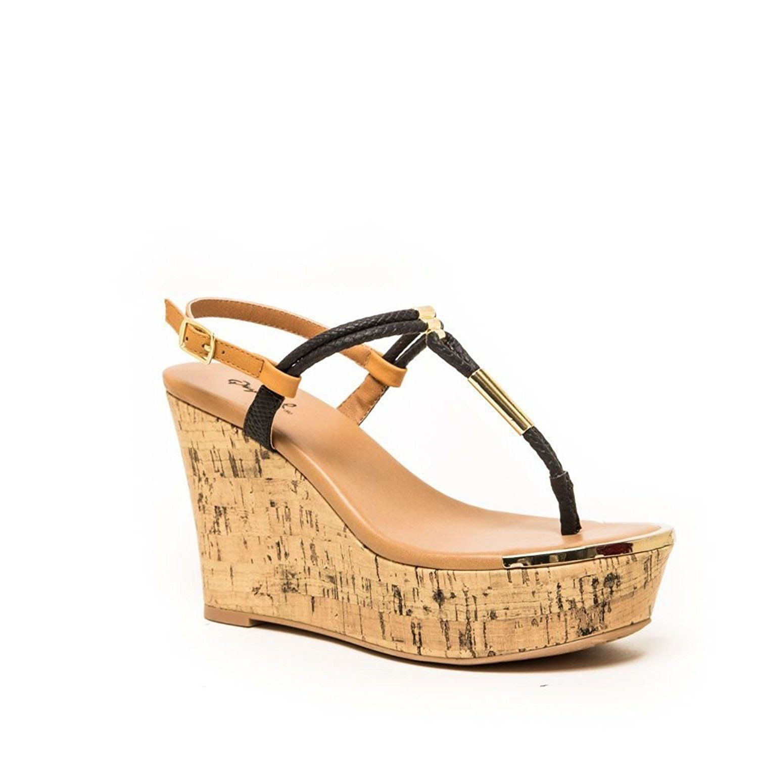 2b7a4ba7f Qupid Cyprus-04 Women s Wedge Platform Thong Sandals   More info could be  found at the image url.