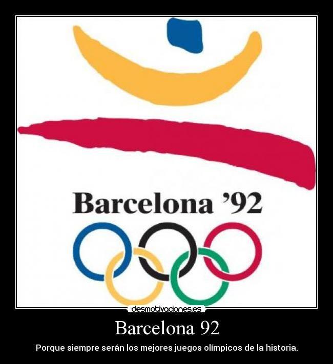 Juegos Olimpicos Barcelona 1992 Espana Poster Deportes
