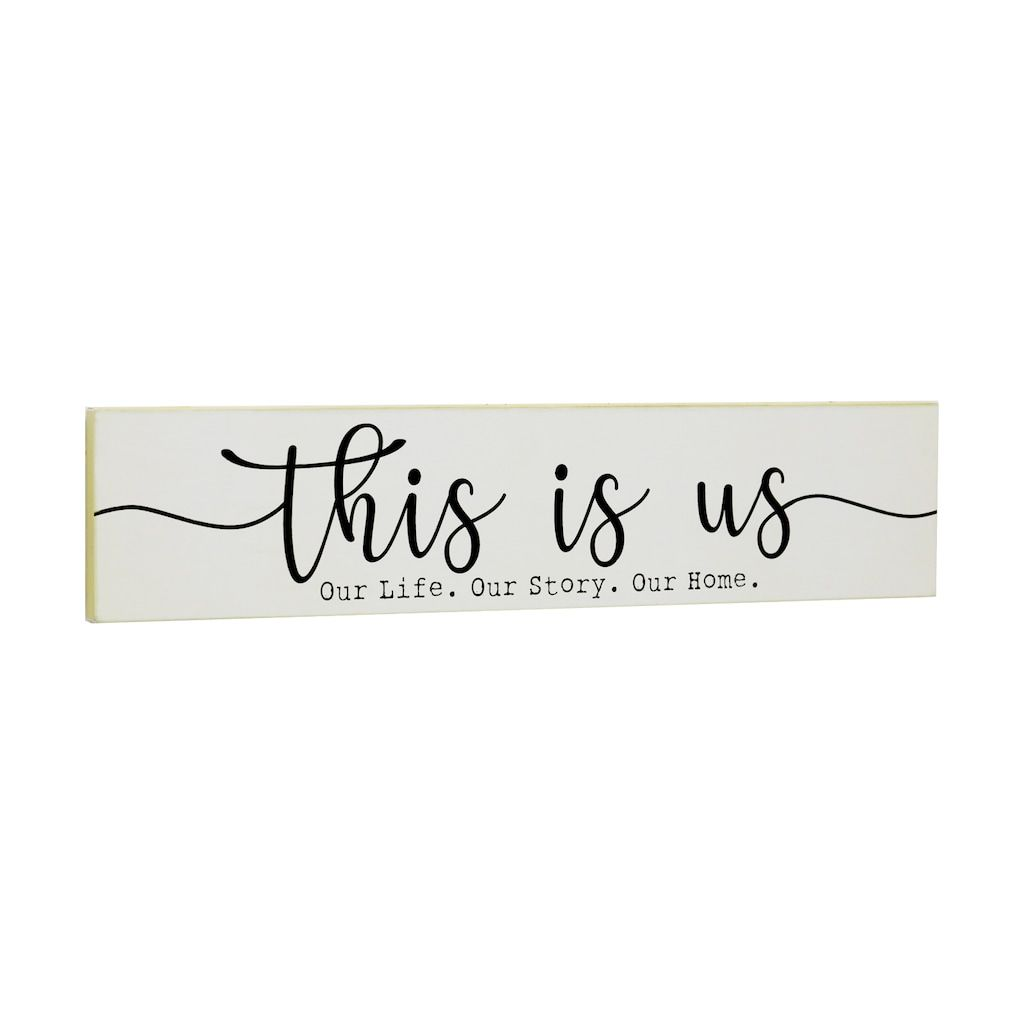 Black White This Is Us Wall Sign By Ashland In 2020 Wall Signs Rustic Wall Sign This Is Us