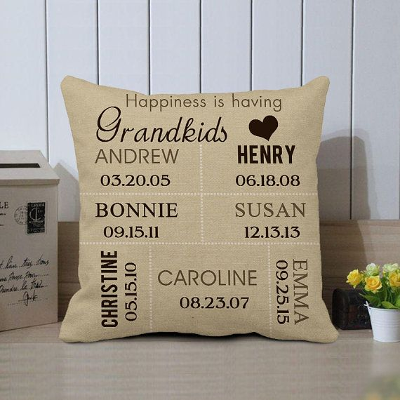 """Personalised Christening Naming Ceremony Cushion Cover 18/""""x18/"""" Baptism"""
