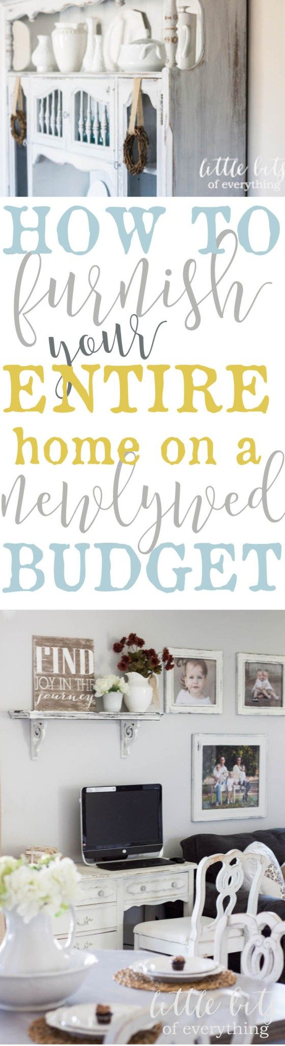 Furnish Your Entire House Virtually For Free, On A Newlywed Budget! I Did It