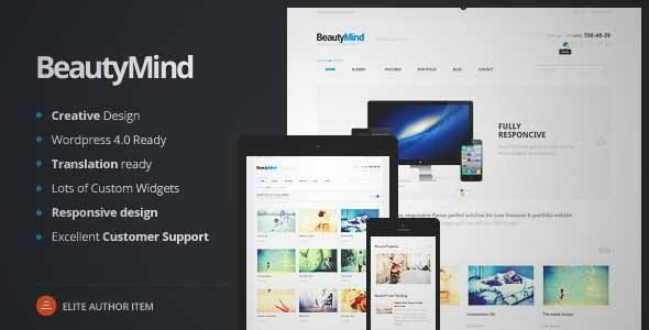 Download and review of BeautyMind - Responsive and Clean WordPress ...