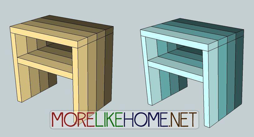 Best Day 25 Build A Simple Modern Nightstand Modern 400 x 300