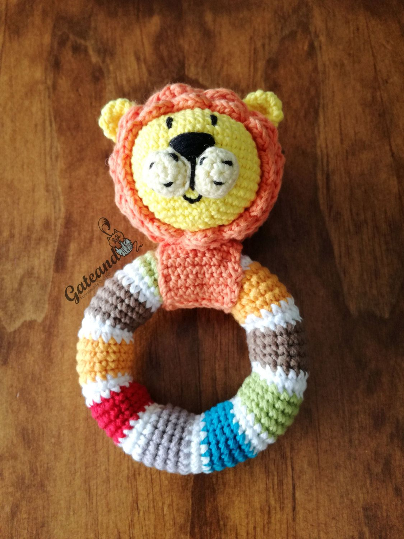 Leoncio baby rattle amigurumi / rattle crochet | Pinterest ...
