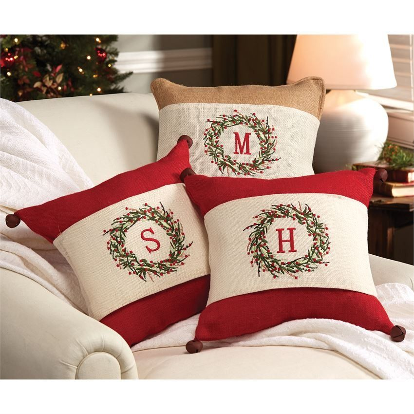 Initial Holiday Pillow Wrap Christmas Already