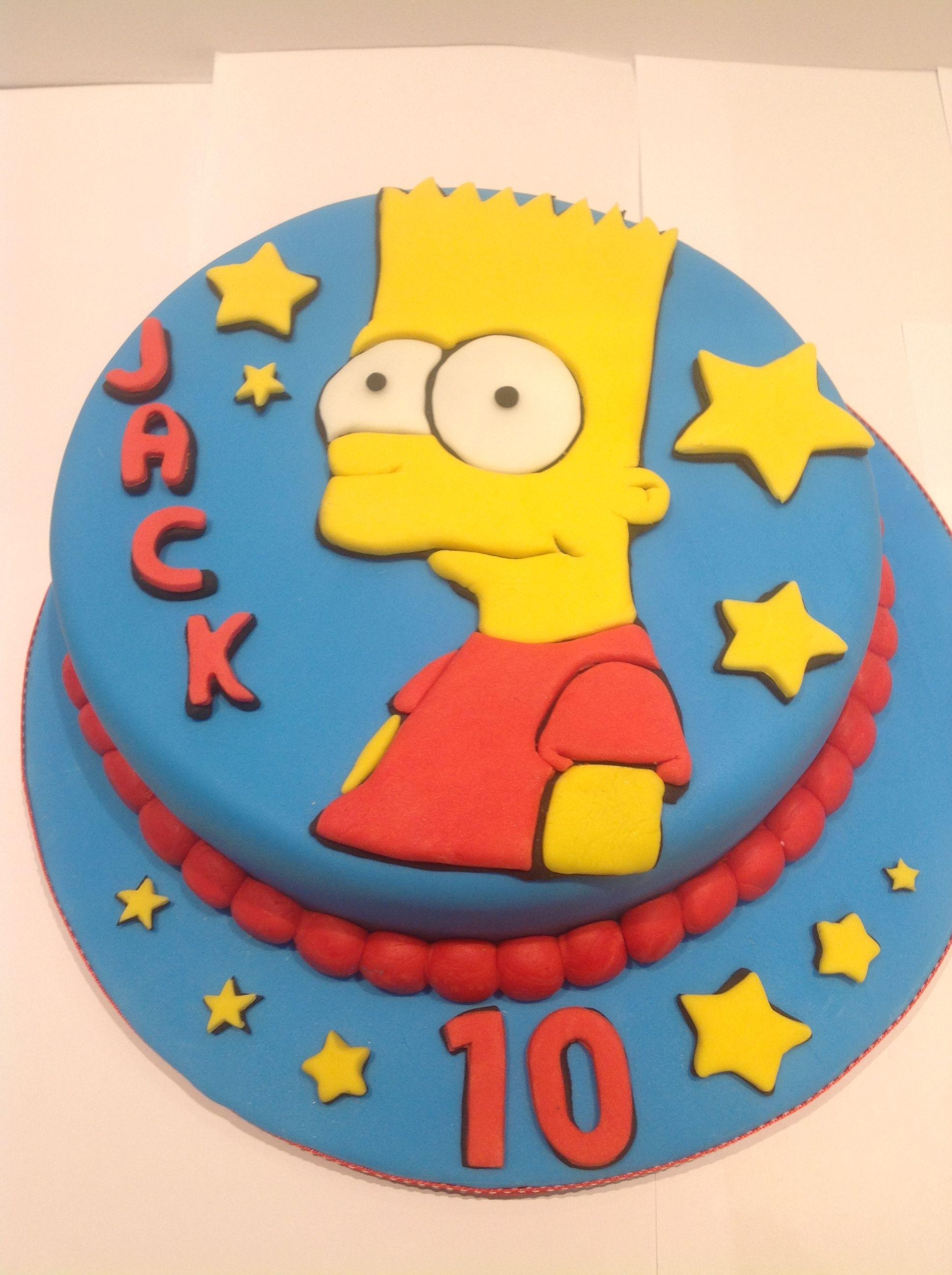 Fabulous Bart Simpson Cake By Lyn Simpsons Cake Cake Bart Simpson Personalised Birthday Cards Veneteletsinfo