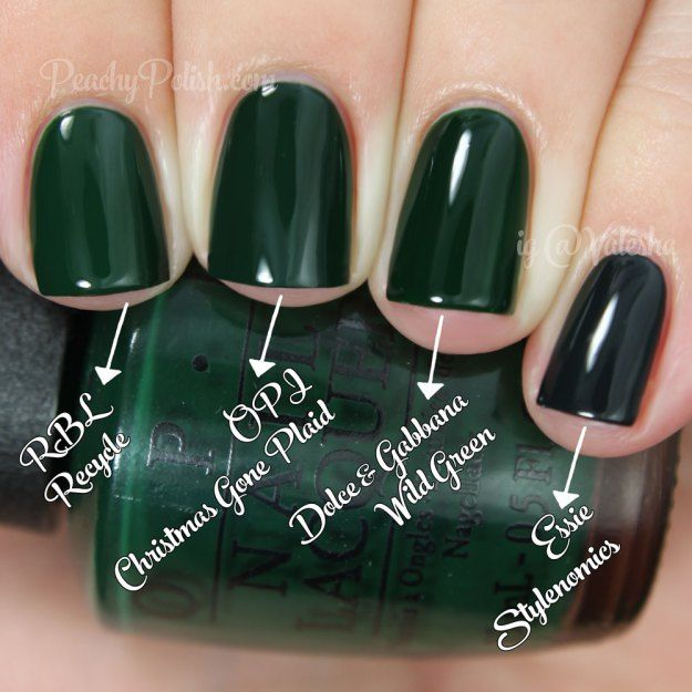 Opi Comparisons Holiday 2014 Gwen Stefani Collection