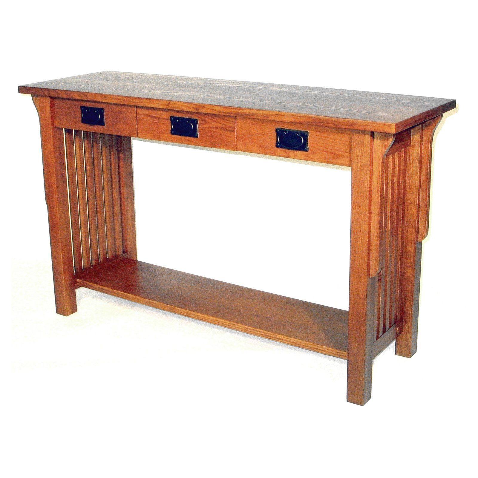 Wayborn Mission Rectangular Console Table Living Room Console Wood Console Table Round Coffee Table Living Room
