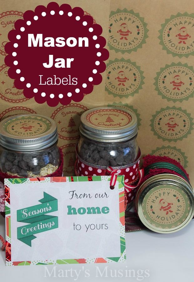 Freebie | Christmas Mason Jar Labels and Printables – Scrap Booking