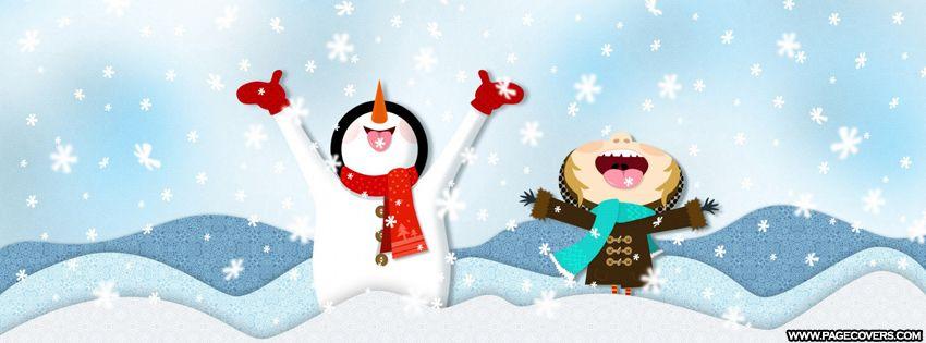 Snowing Christmas Fun Facebook Cover