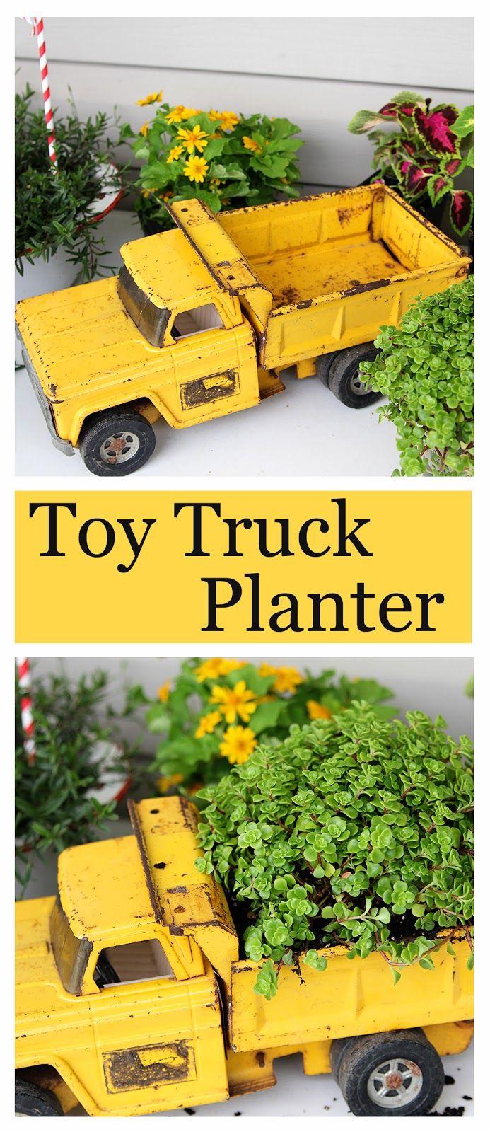 Keep On Trucking: Fun Upcycled Planter Idea | Toy trucks, Yard sale ...