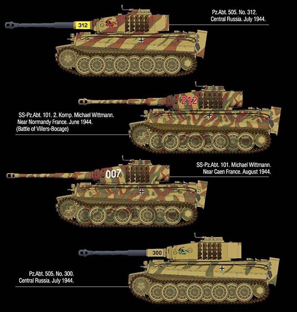 101 schwere Panzer Bataillon August 1944 007 Tank TIGER I Normandie 1:35