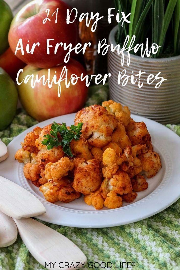 These healthy Air Fryer Buffalo Cauliflower Bites are easy
