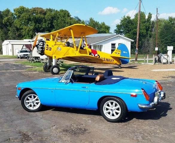 Queen B is the '72 B roadster of Dale Schiller from Katy, Texas from AMGBA newsletter. With Stearman biplane in the background.