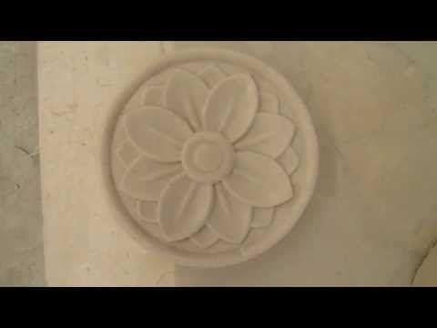 3d stone flower feature wall tile is a green, durable, stylish, and artistic decorative wall product.