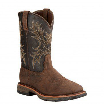 """Ariat Men's 11"""" Workhog®  H2O Coffee – Non-Safety Wide Square Toe  - 10017436 Profile"""