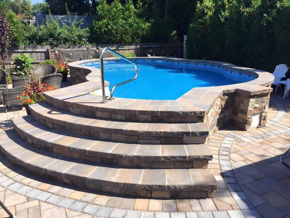 Above Ground Surround Backyard Pool Landscaping Backyard Pool Pool Landscaping