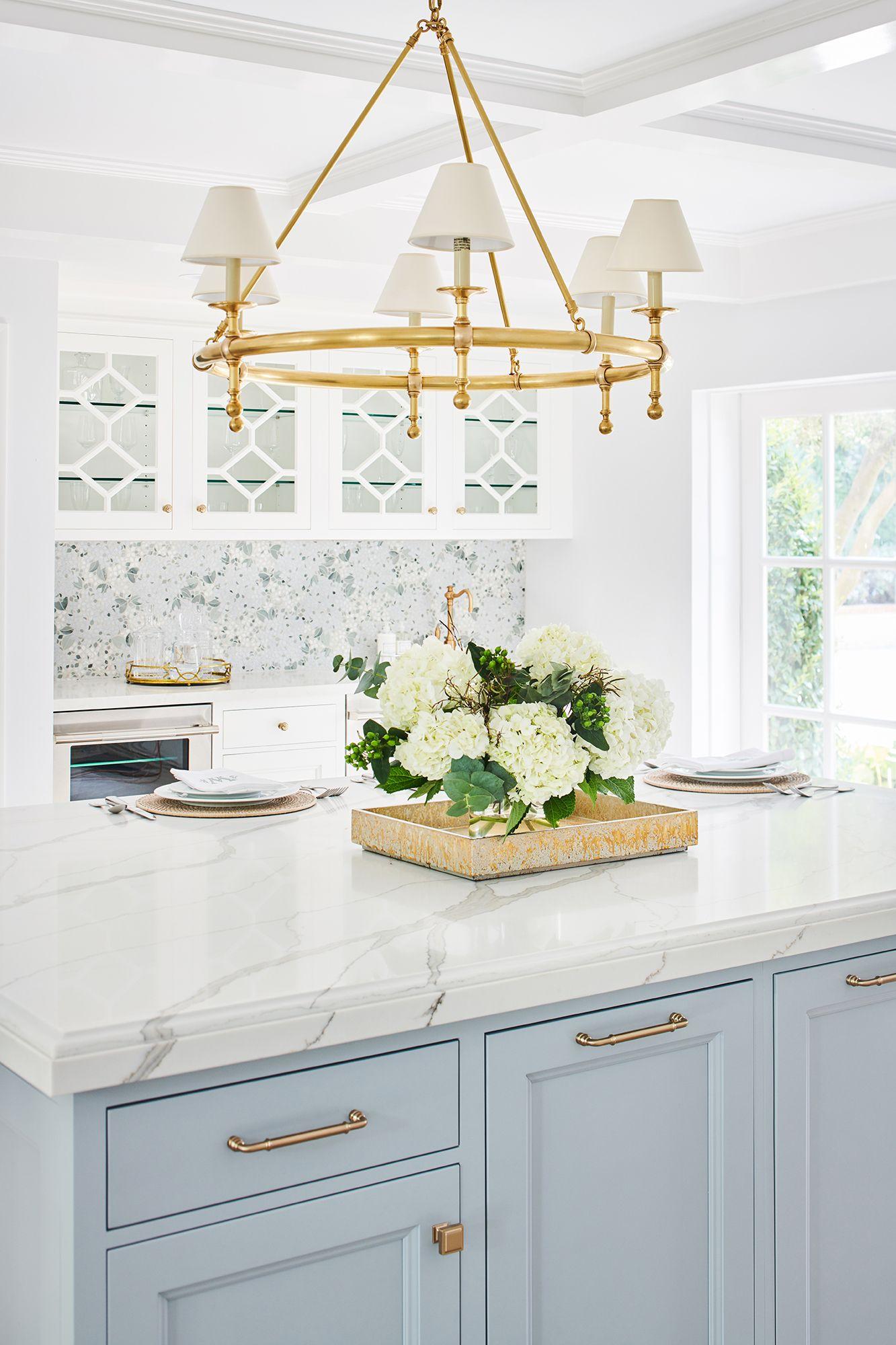 Pasadena Showcase House Kitchen Prep Area Kitchen Remodel Home Kitchens White Kitchen Design