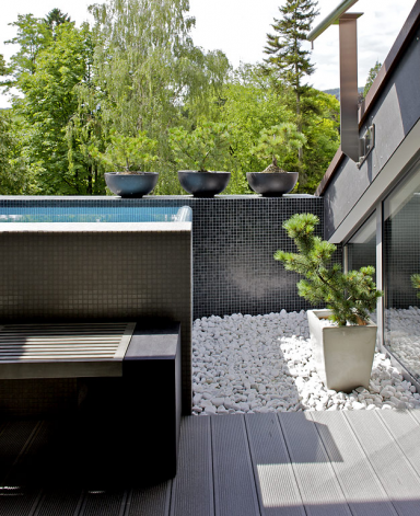 m bel f r die dachterrasse schwebend grillage von. Black Bedroom Furniture Sets. Home Design Ideas