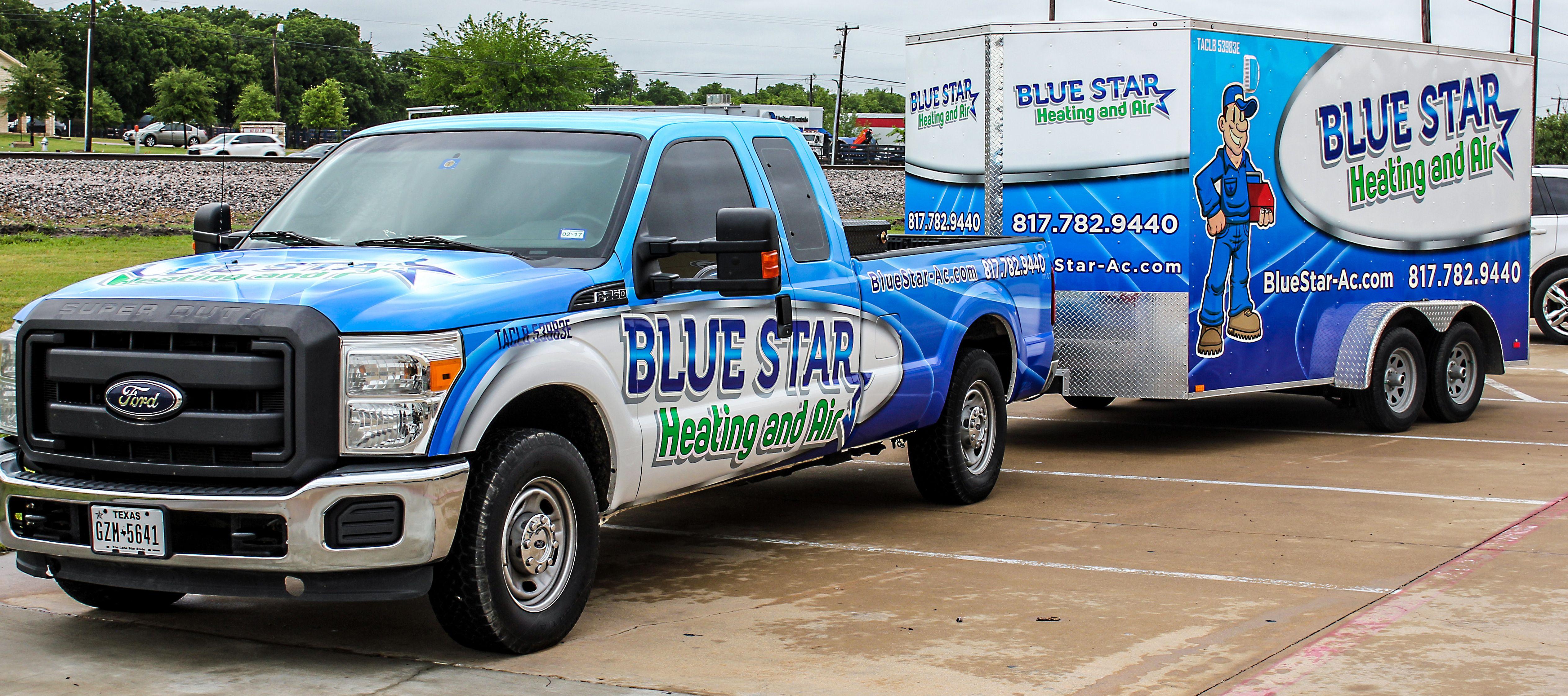 Advertise HVAC company on trucks & trailers