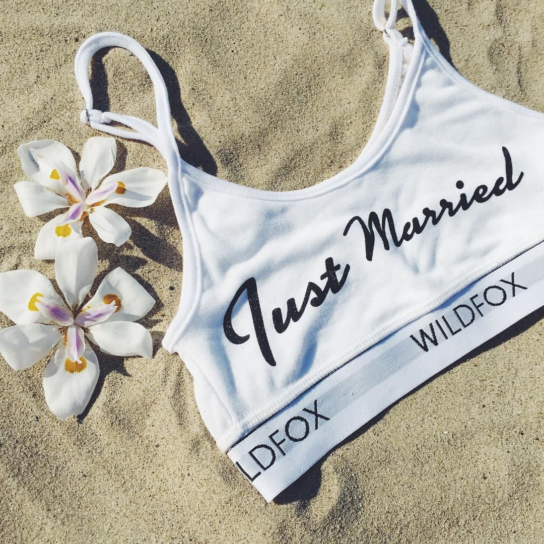 For all you honeymooners... The #Wildfox bridal collection is here (link in profile to shop!)