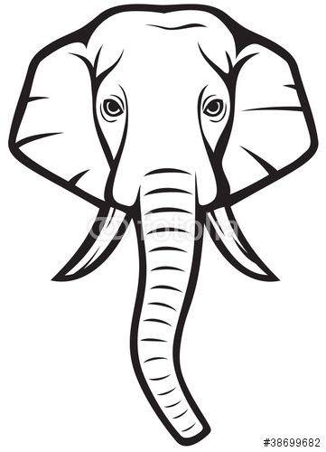 Elephant Head African Elephant Stock Image And Royalty Free Vector Files On Fotolia Com Pic 38699 Elephant Clip Art Elephant Face Drawing Indian Elephant