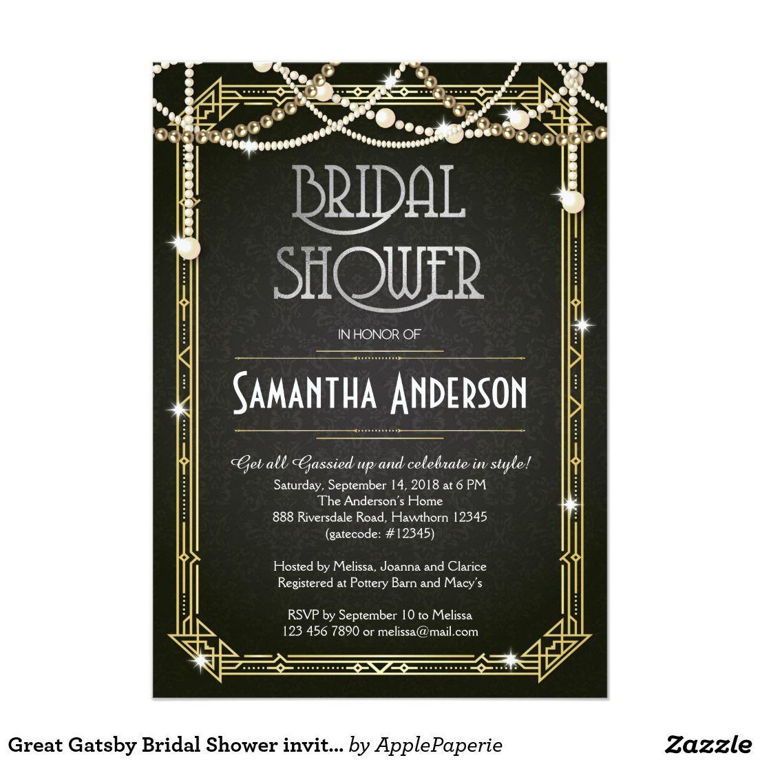 Art deco backdrop for photos wall decor party decoration 1920 s - Great Gatsby Bridal Shower Invitation Art Deco
