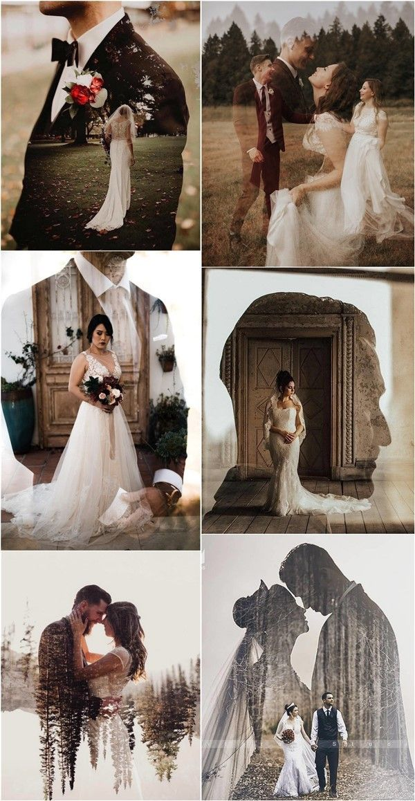 Wedding Trends 2020: Double Exposure Engagement & Wedding Photography Ideas
