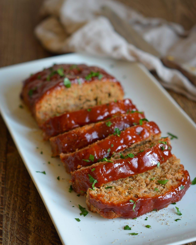Turkey Meatloaf With Bbq Glaze Once Upon A Chef Recipe Bbq Turkey Meatloaf Turkey Meatloaf Recipes Turkey Meatloaf