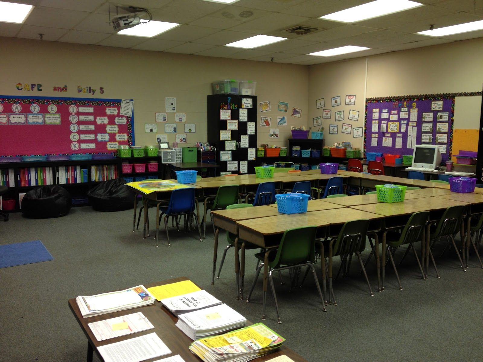Classroom Workstation Ideas : Very neat classroom setup nd grade stuff take a tour of