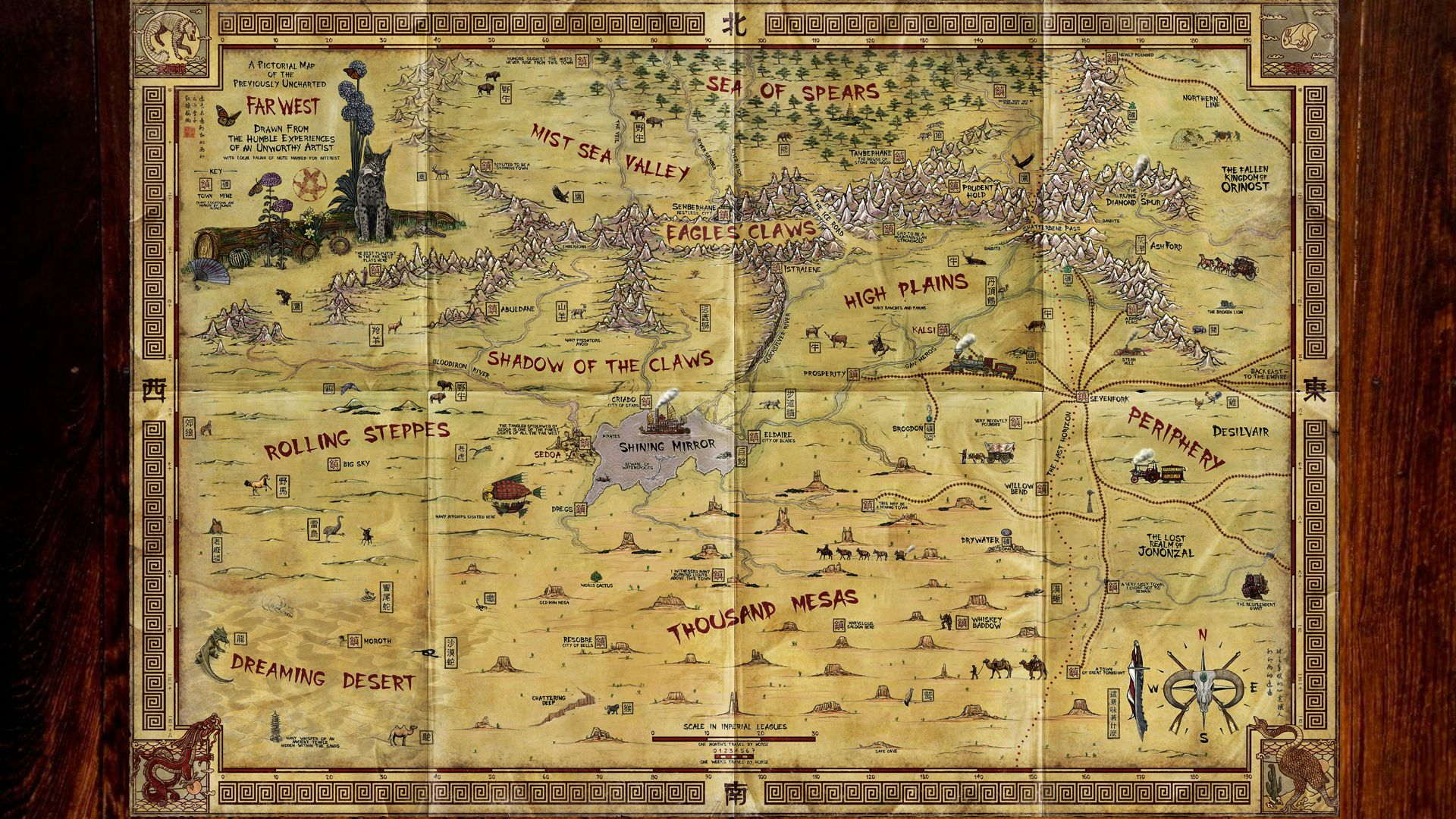 steampunk map wallpaper - photo #8