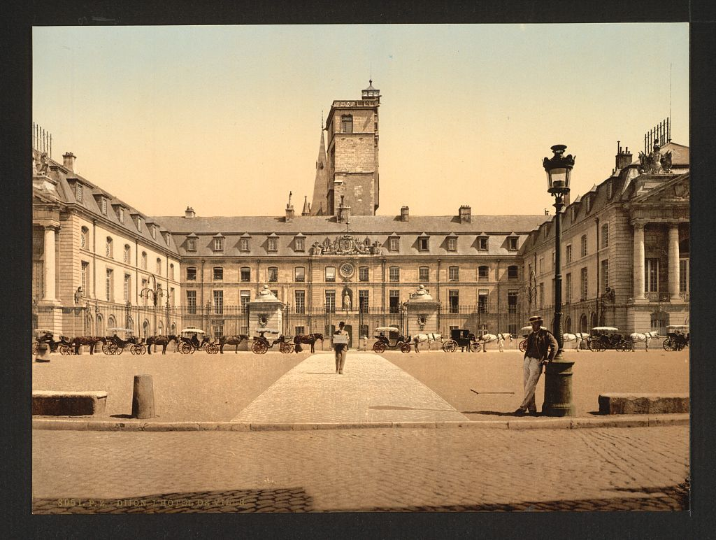 old architectural photography. [The Town Hall, Dijon, France]. HallArchitectural PhotographyOld Old Architectural Photography E