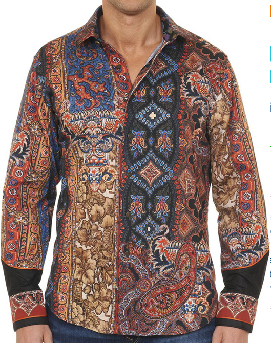 Robert Graham HINT OF COLOR Limited Edition Embroidered