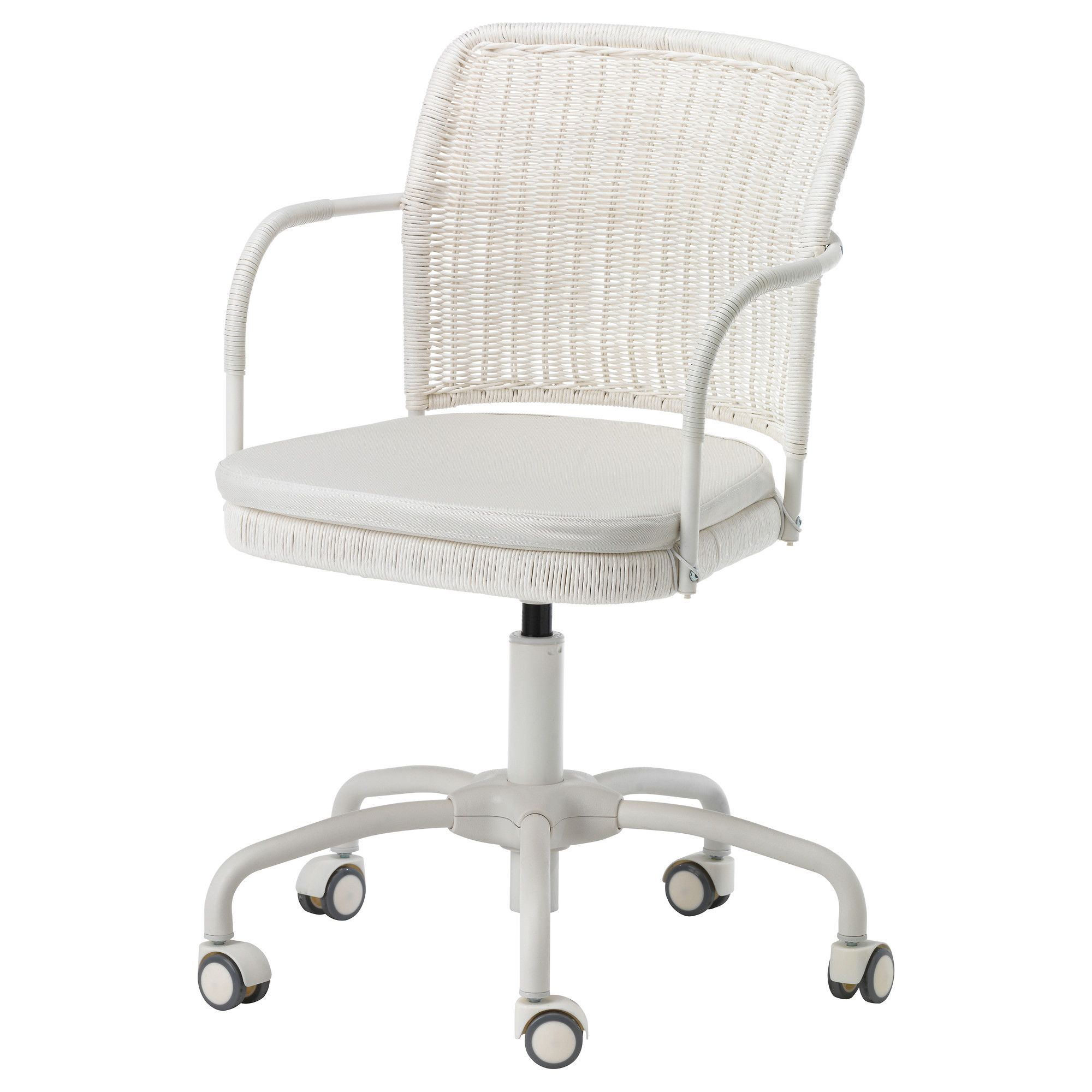 My DIY Office Project!! GREGOR Swivel Chair   Vittaryd White   IKEA Office  Chair, Wicker