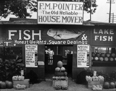 Fish Market near Birmingham, AL, by Walker Evans