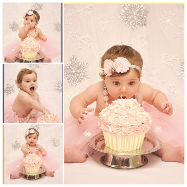 Winter Onederland Cake Smash Emersyn Pinterest Winter - Cake smash first birthday