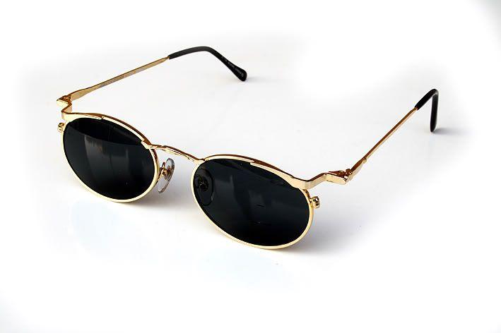 a211d9c705d round oval gold metal sunglasses Hi Tek