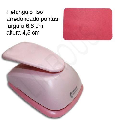 Furador Scrapbook Retangulo Arredondado Pontas 6,8cm X 4,5cm - R$ 64,90