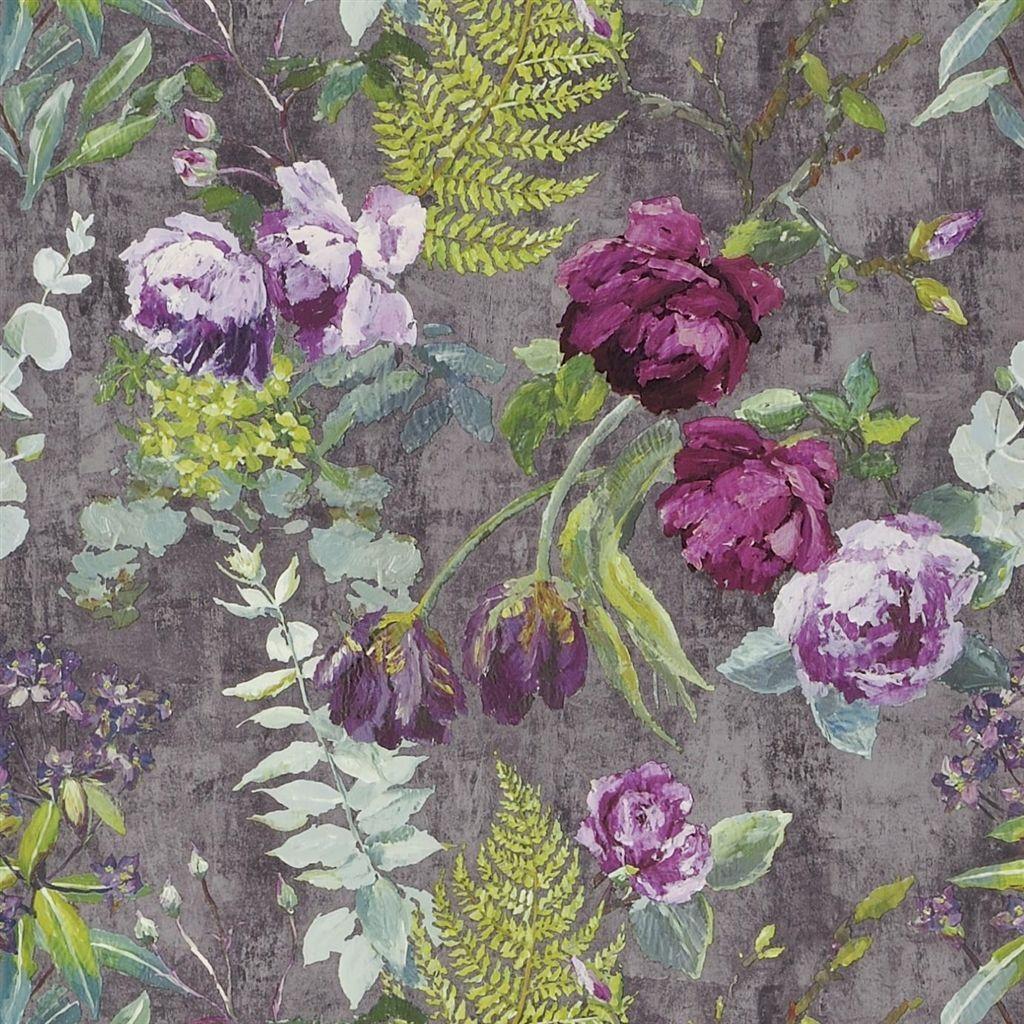 tulipani amethyst wallpaper Designers Guild