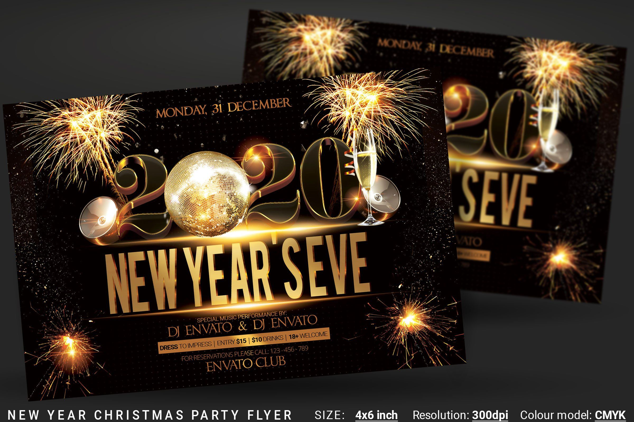New Year's Eve Christmas Flyer