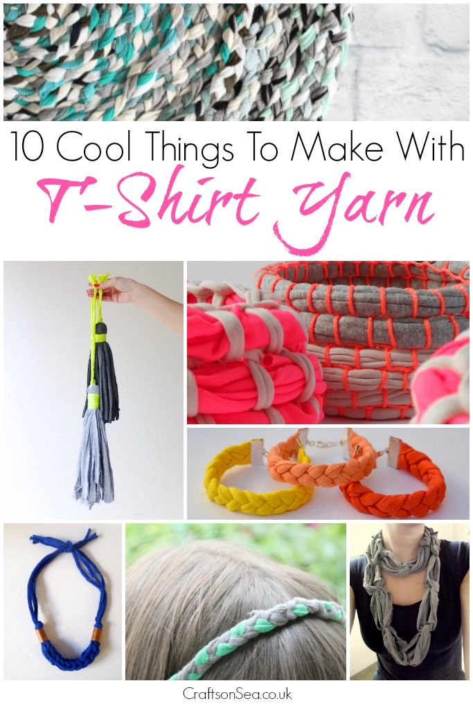 10 Cool Things To Make With T Shirt Yarn T Shirt Yarn Tee Shirt