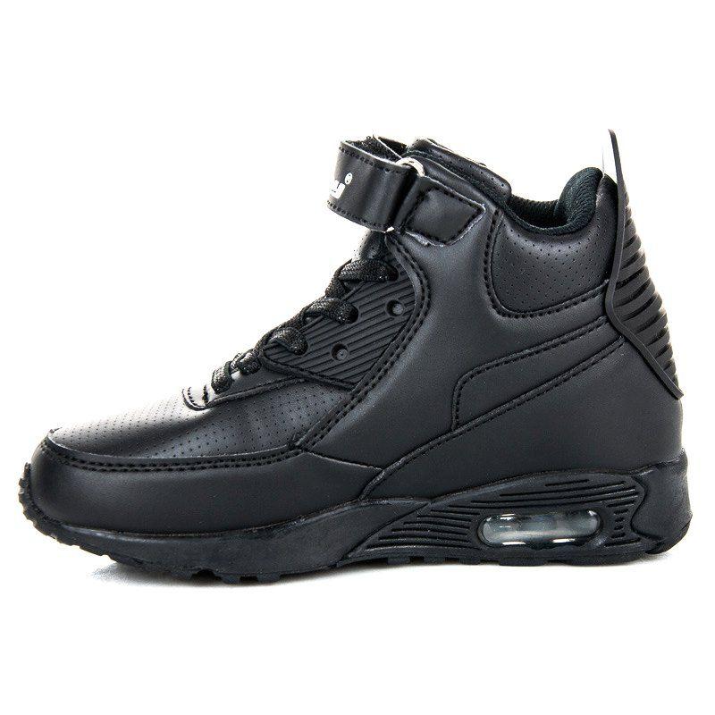 Buty Sportowe Dzieciece Dla Dzieci Hasby Czarne Buty Nad Kostke Hasby All Black Sneakers Sneakers Shoes